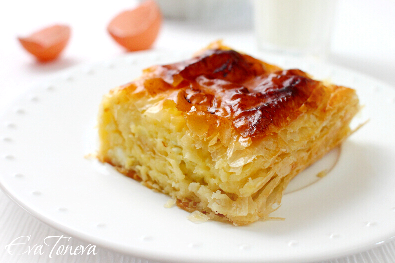 Banitsa with sour cream
