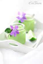 Mint panna cotta small