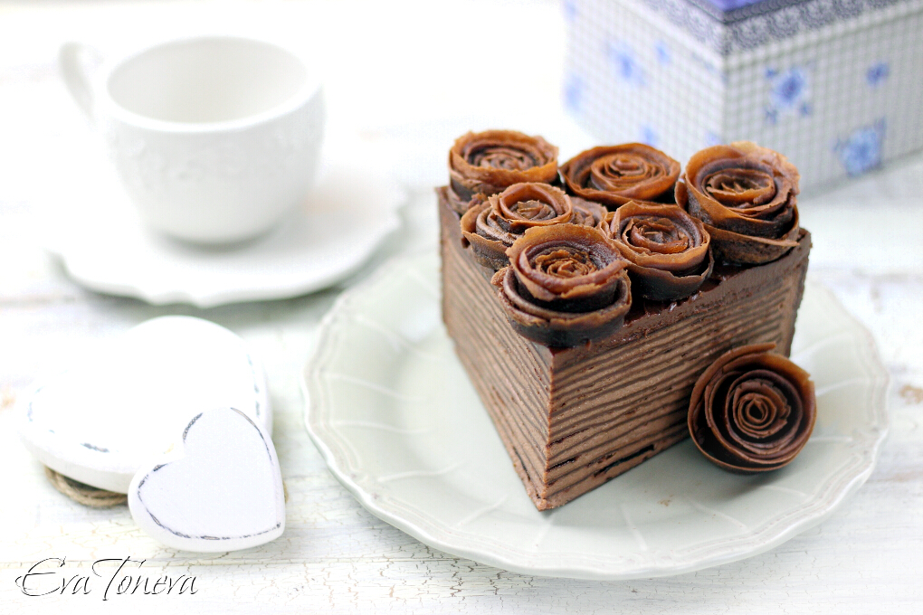 Nutella crepes cake2