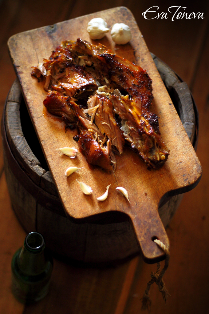 Roasted lamb