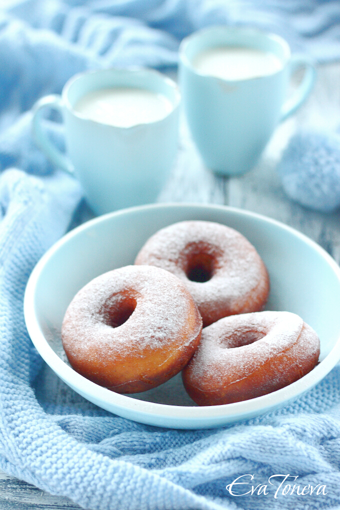 Sweetened condensed milk donuts