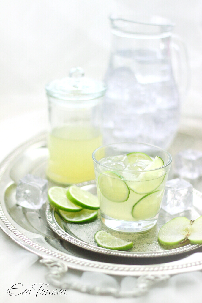 green apple lime lemonade