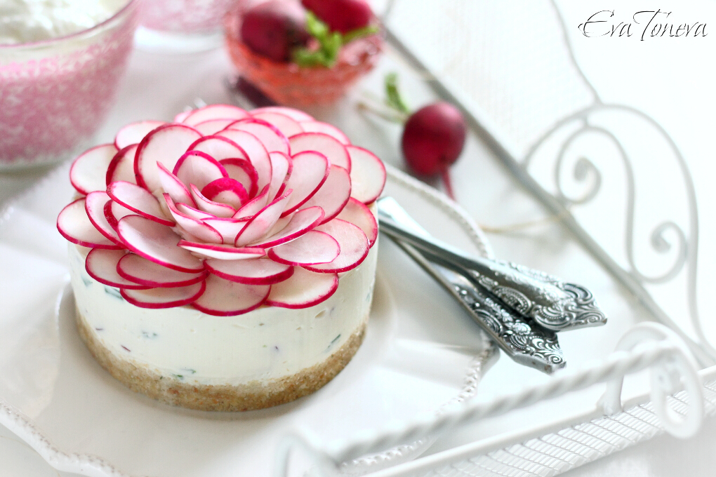 radishes cheesecake