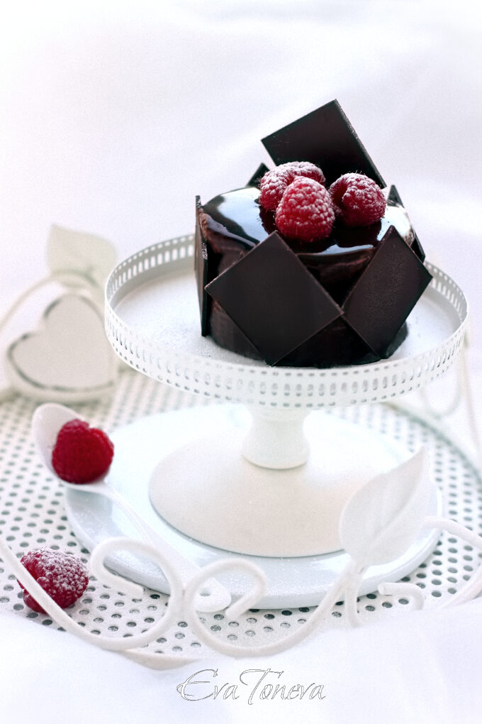 Chocolate рaspberries entremet  web