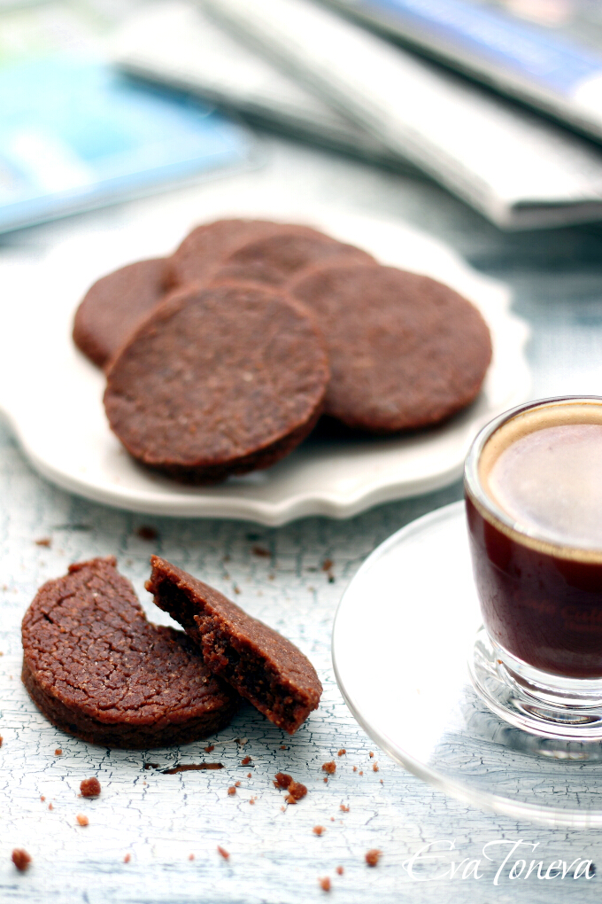 Chocolate and coffee vegan biscuits