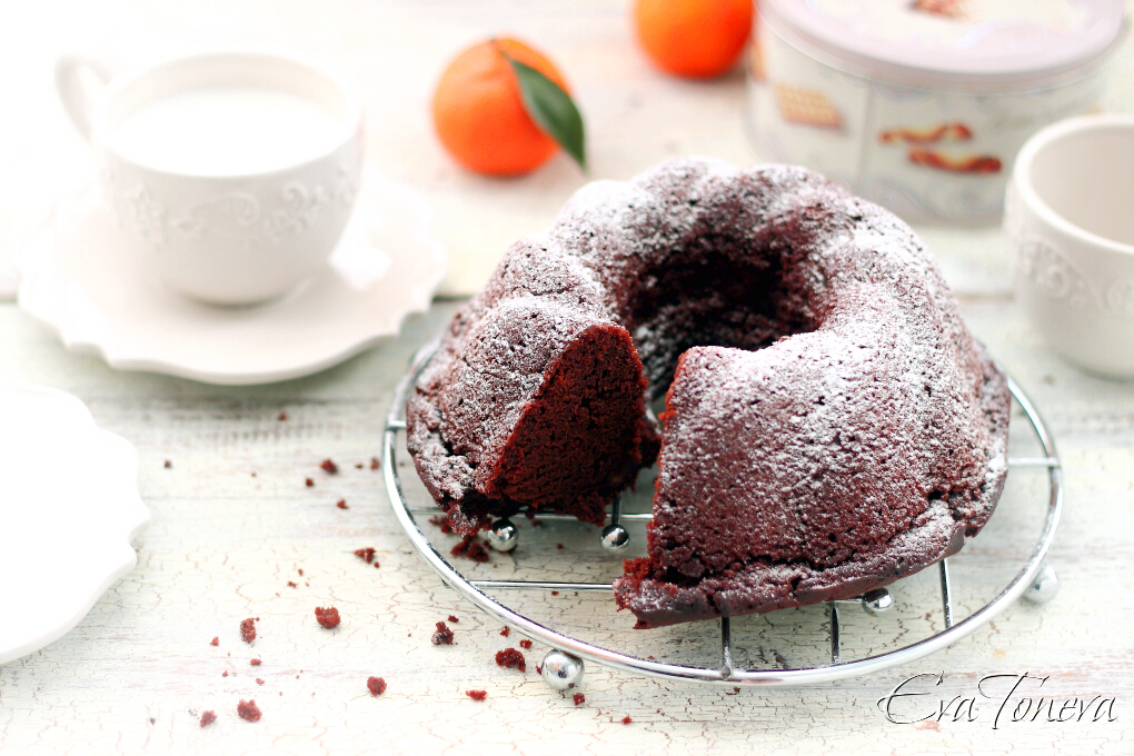 Chocolate orange bundt cake1