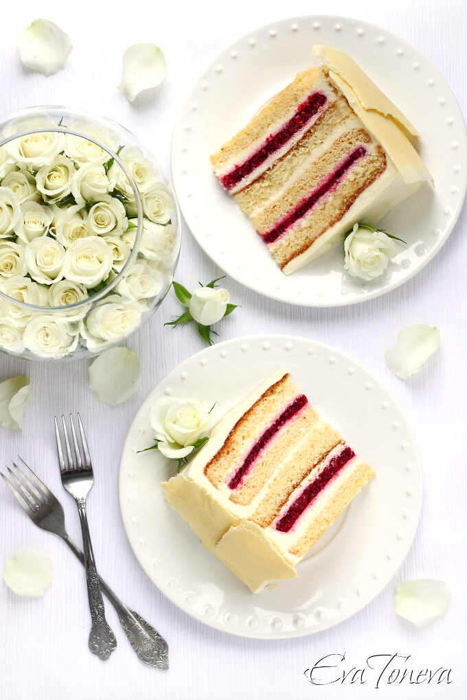 white chocolate mousse and raspberry cake2
