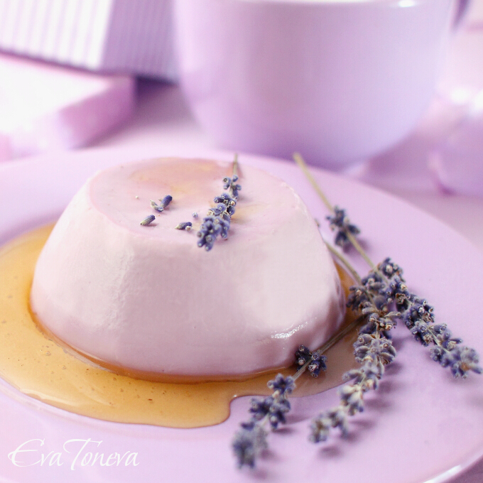 lavender and honey panna cotta2