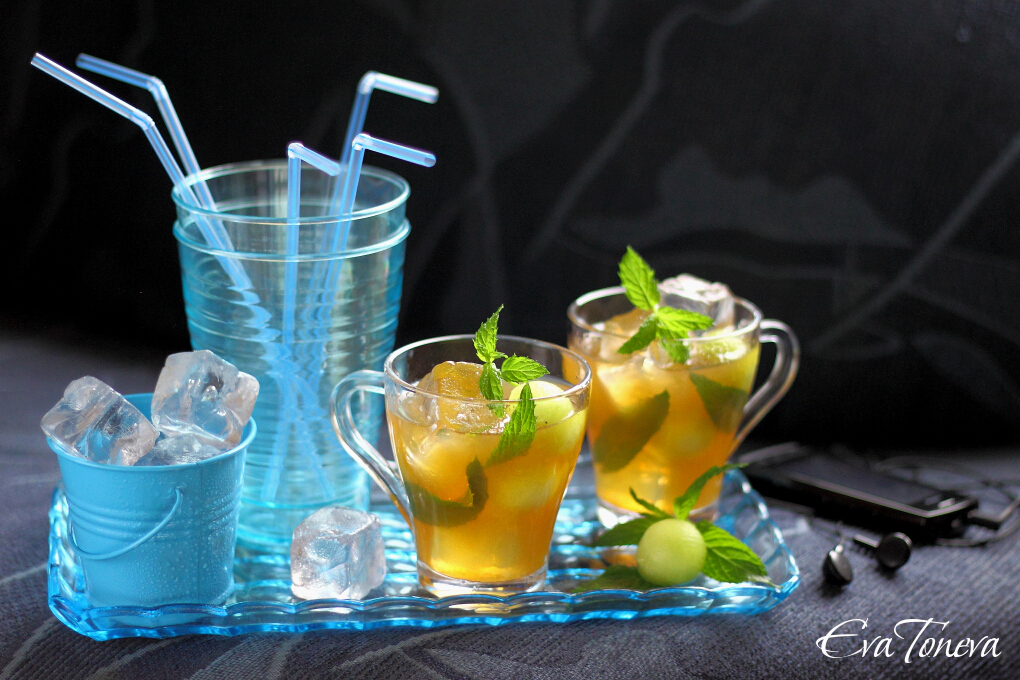 melon and mint iced tea1